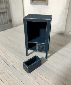 Midnight Blue Side Table with Drawer (1)