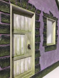 Purple Cottage Door Detail