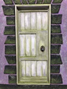 Purple Cottage Door Detail 1