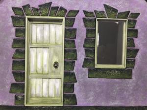 Purple Cottage Door and Window Detail